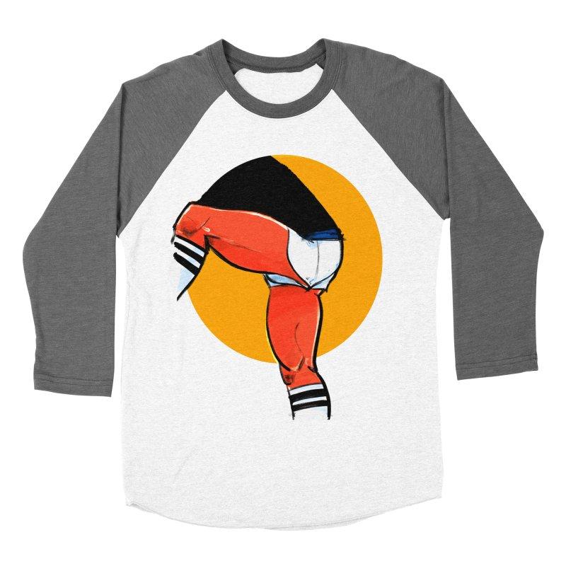 Laces Men's Baseball Triblend Longsleeve T-Shirt by Ego Rodriguez