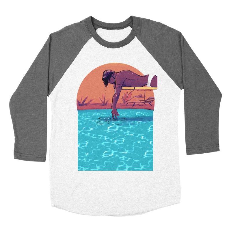 Narcissus Men's Baseball Triblend Longsleeve T-Shirt by Ego Rodriguez