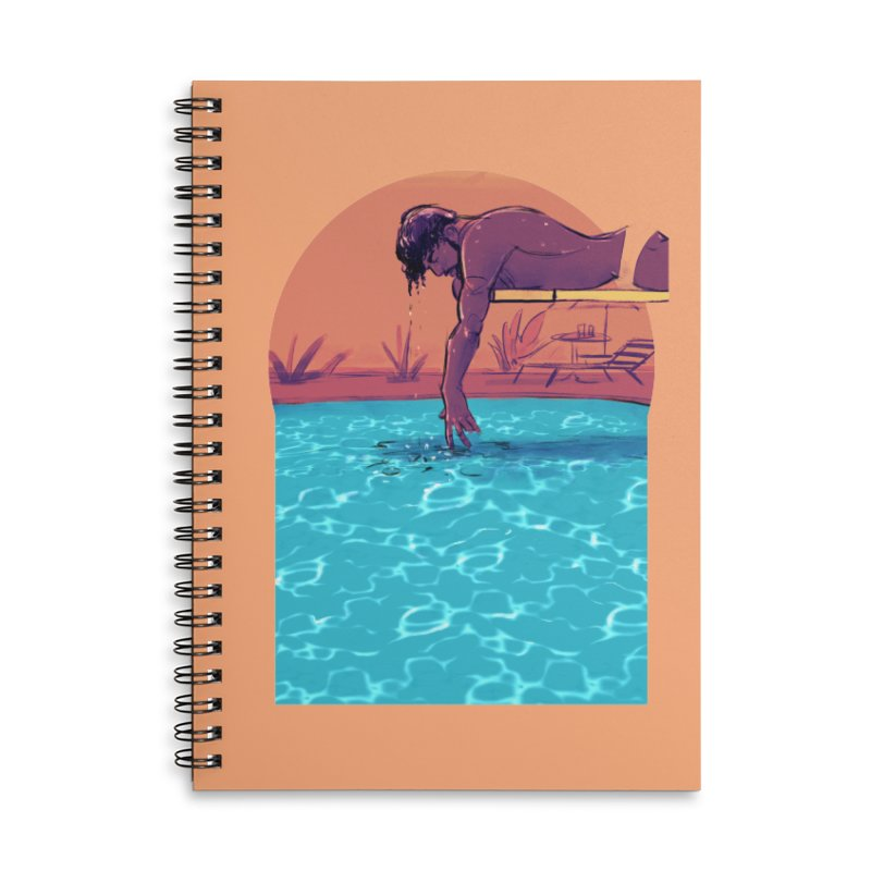 Narcissus Accessories Lined Spiral Notebook by Ego Rodriguez