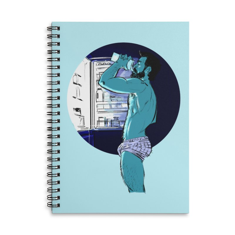 Thirst Accessories Lined Spiral Notebook by Ego Rodriguez
