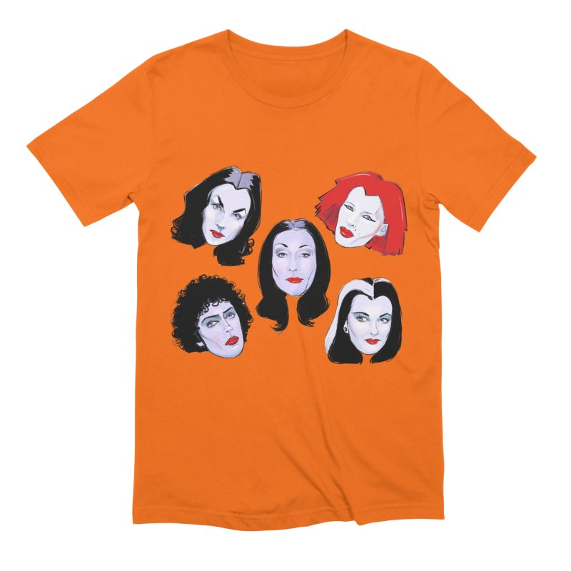 Heey Gouls! in Men's Extra Soft T-Shirt Bright Orange by Ego Rodriguez