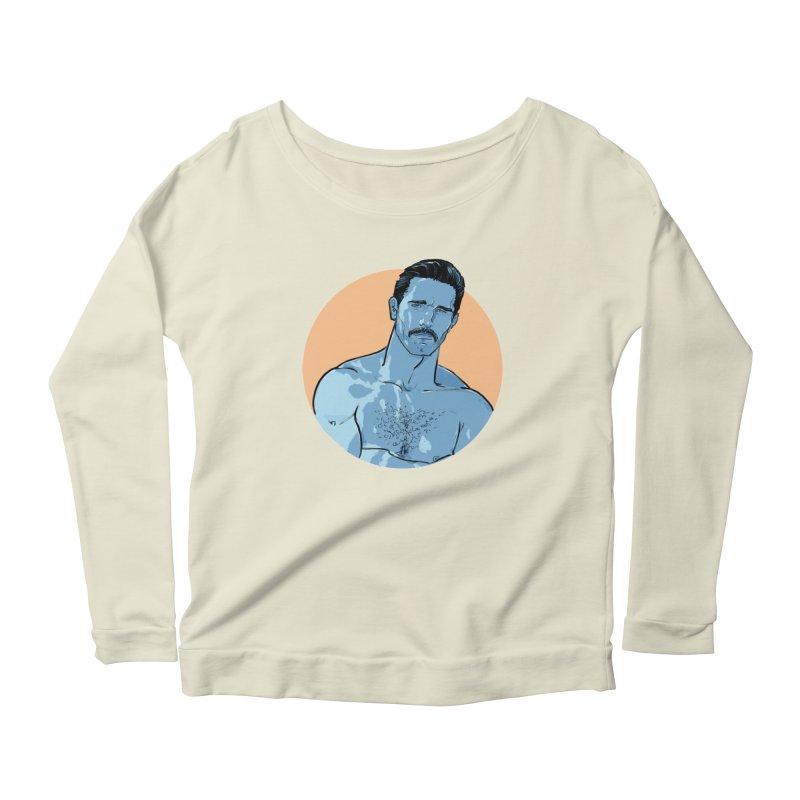 Ben Women's Scoop Neck Longsleeve T-Shirt by Ego Rodriguez