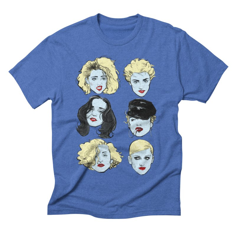 Who's That Girl? in Men's Triblend T-shirt Blue Triblend by Ego Rodriguez's Shop