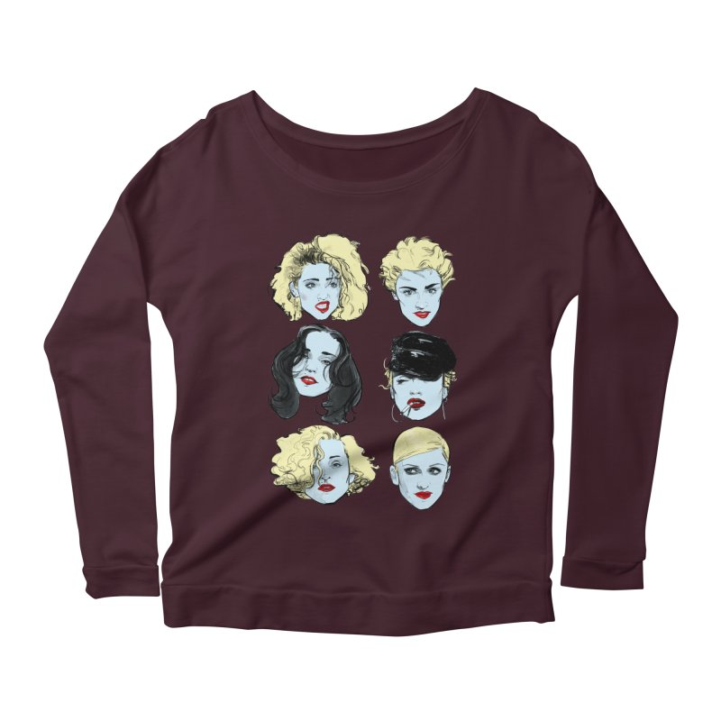 Who's That Girl? Women's Longsleeve Scoopneck  by Ego Rodriguez's Shop