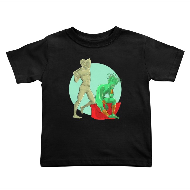 Gorgon Regrets Kids Toddler T-Shirt by Ego Rodriguez