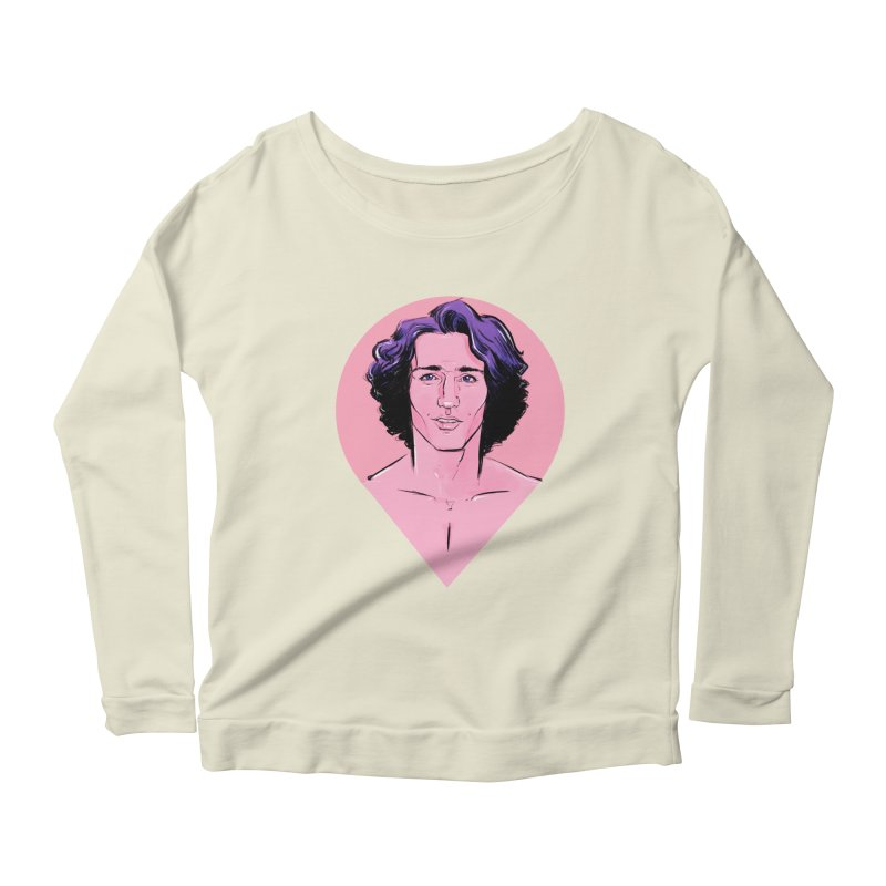Young Trudeau Women's Scoop Neck Longsleeve T-Shirt by Ego Rodriguez