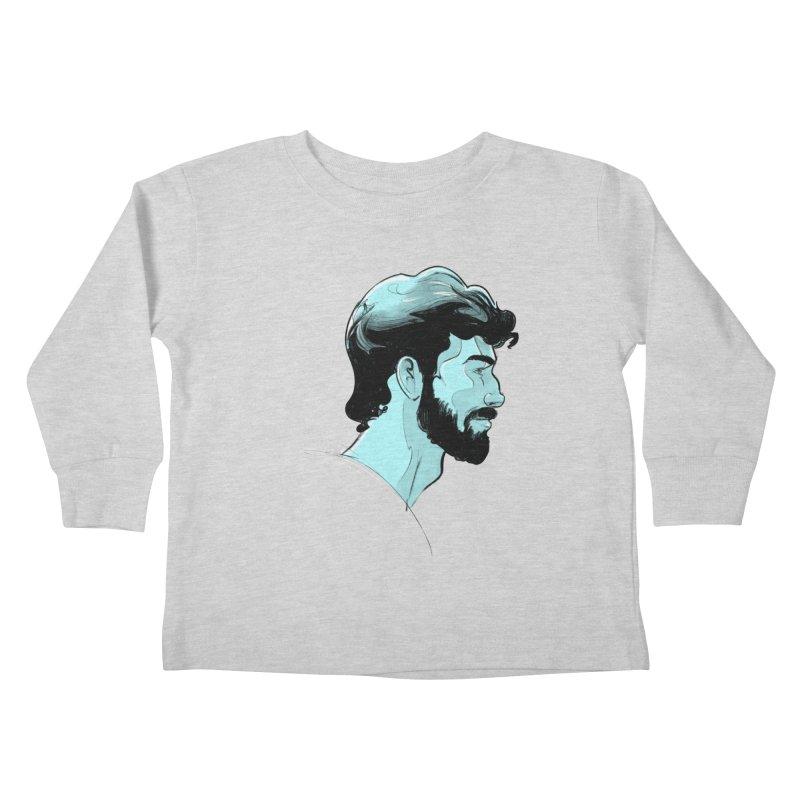 Charlie Kids Toddler Longsleeve T-Shirt by Ego Rodriguez