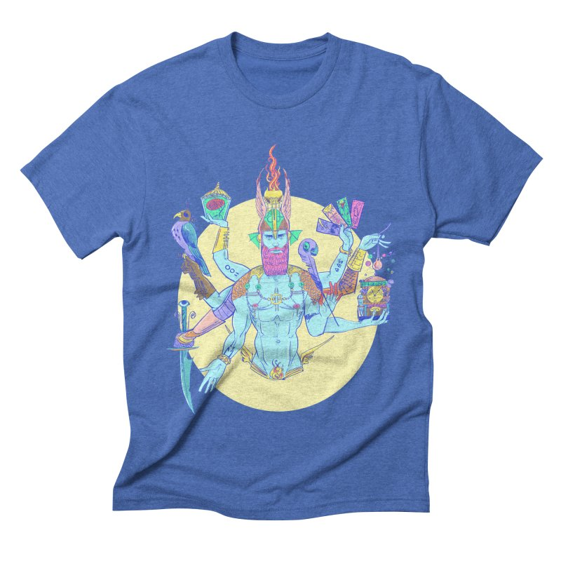 Impossible God in Men's Triblend T-shirt Blue Triblend by Ego Rodriguez's Shop