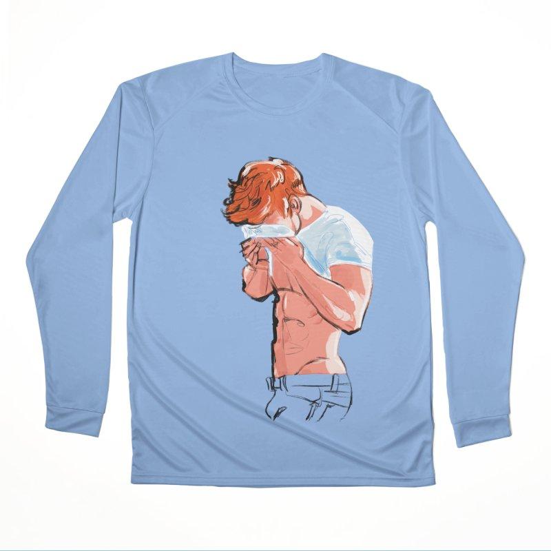 Ginger Love in Men's Performance Longsleeve T-Shirt Bimini Blue by Ego Rodriguez