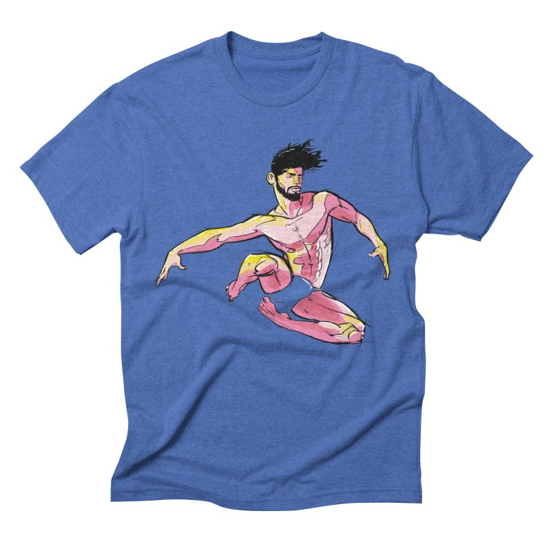 Jump in Men's Triblend T-shirt Blue Triblend by Ego Rodriguez's Shop