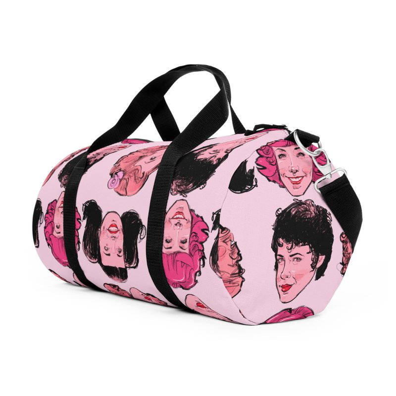 Pink Ladies Accessories Duffel Bag Bag by Ego Rodriguez