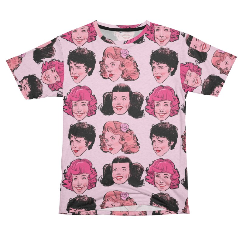 Pink Ladies Women's Unisex French Terry T-Shirt Cut & Sew by Ego Rodriguez