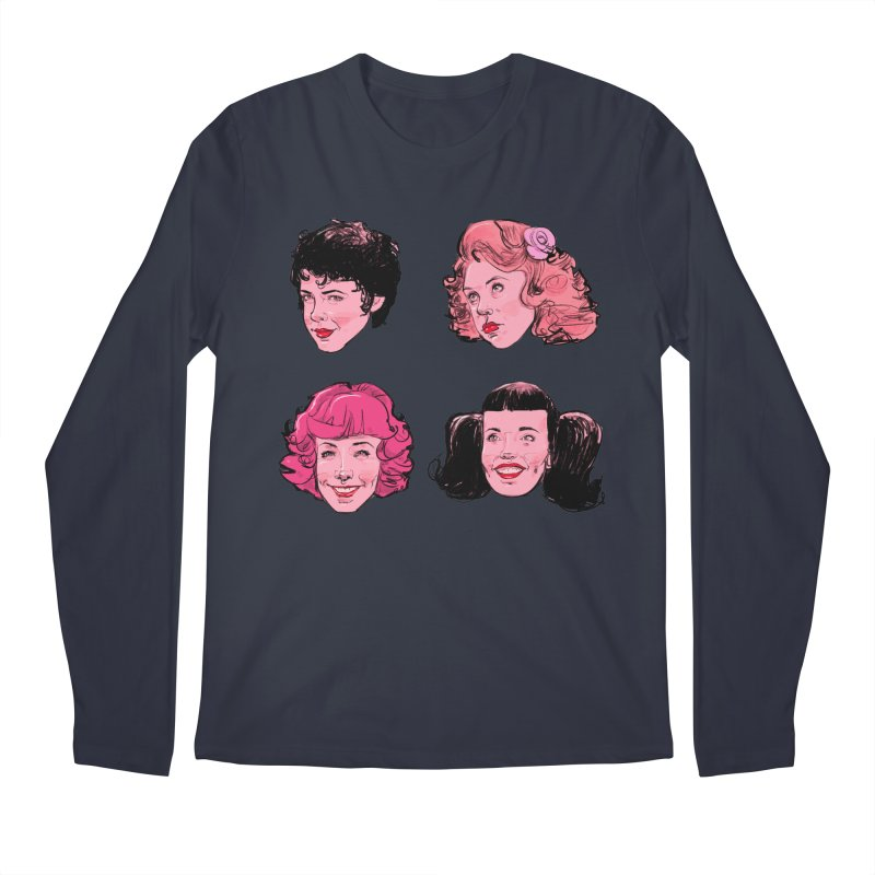 Pink Ladies Men's Longsleeve T-Shirt by Ego Rodriguez