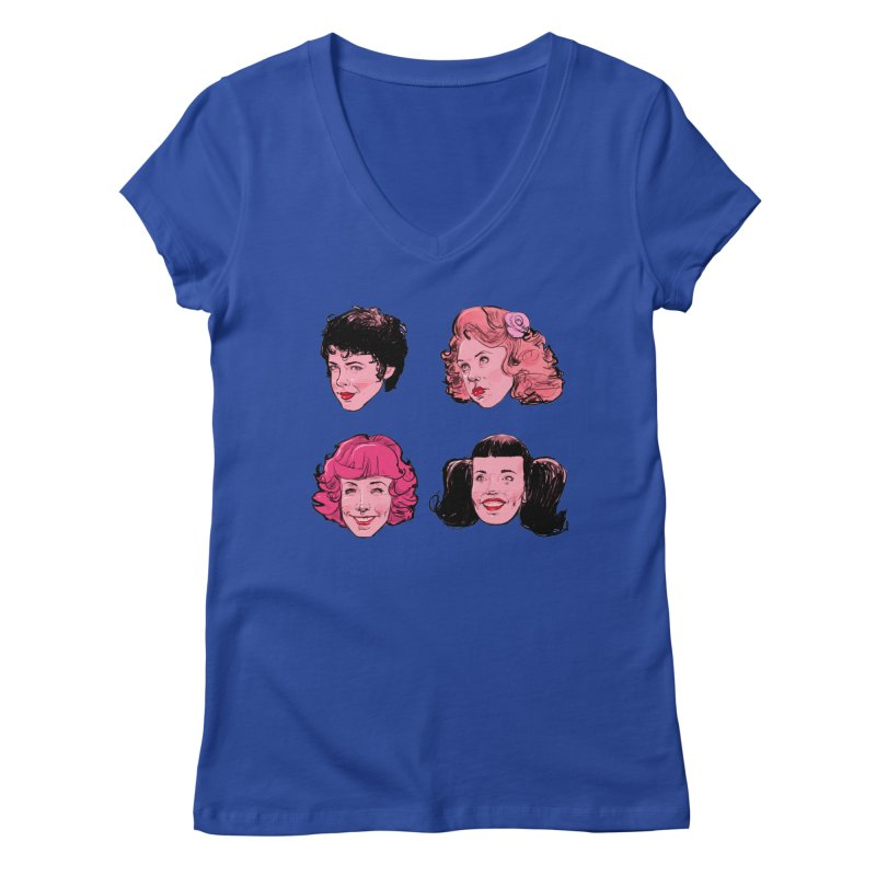Pink Ladies Women's V-Neck by Ego Rodriguez's Shop