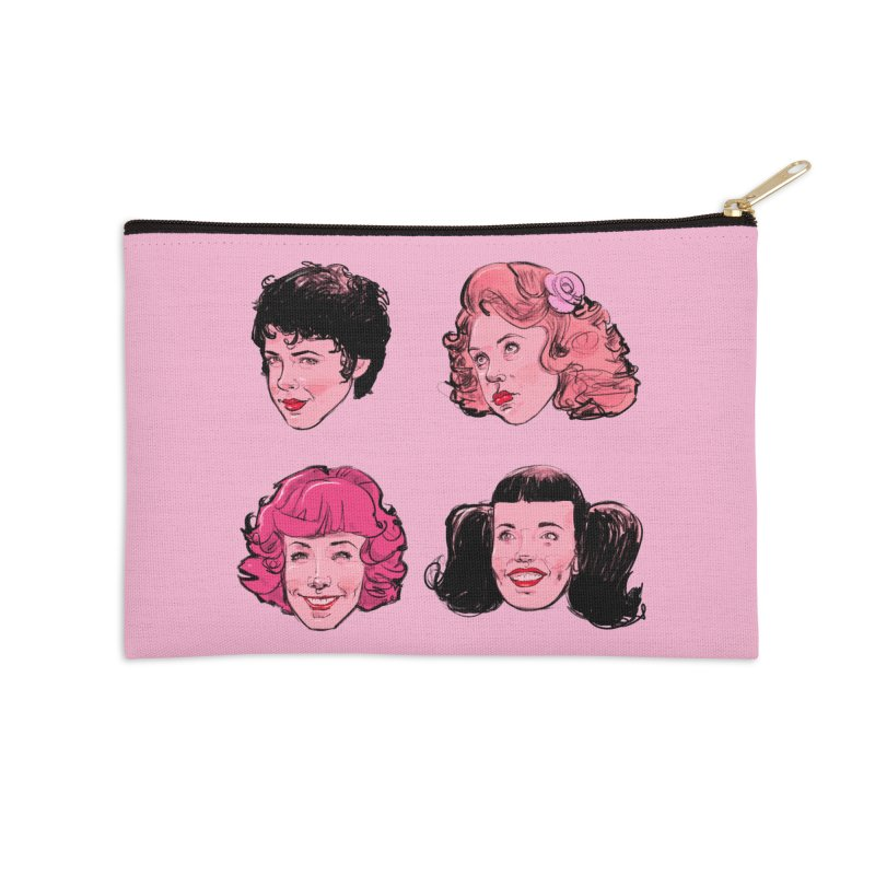 Pink Ladies Accessories Zip Pouch by Ego Rodriguez's Shop