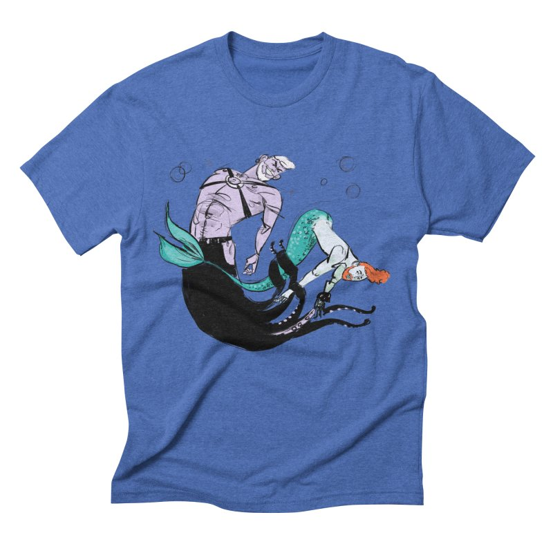Sealife in Men's Triblend T-shirt Blue Triblend by Ego Rodriguez's Shop