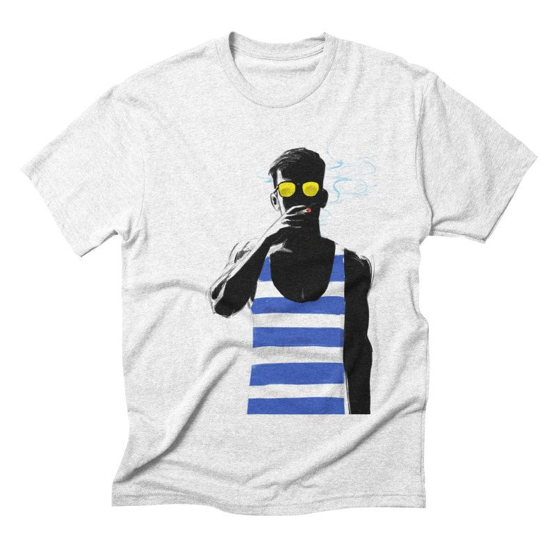 Shade in Men's Triblend T-shirt Heather White by Ego Rodriguez's Shop