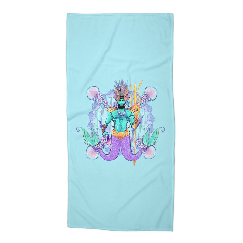 Triton Accessories Beach Towel by Ego Rodriguez's Shop