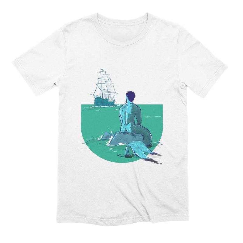 Ocean in Men's Extra Soft T-Shirt White by Ego Rodriguez