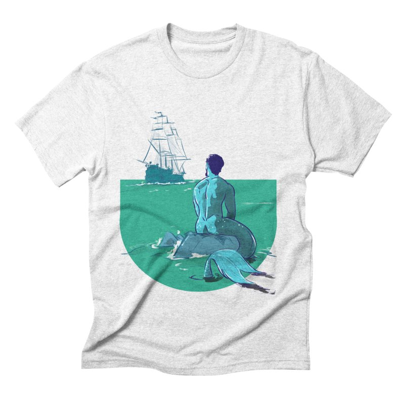 Ocean in Men's Triblend T-shirt Heather White by Ego Rodriguez's Shop