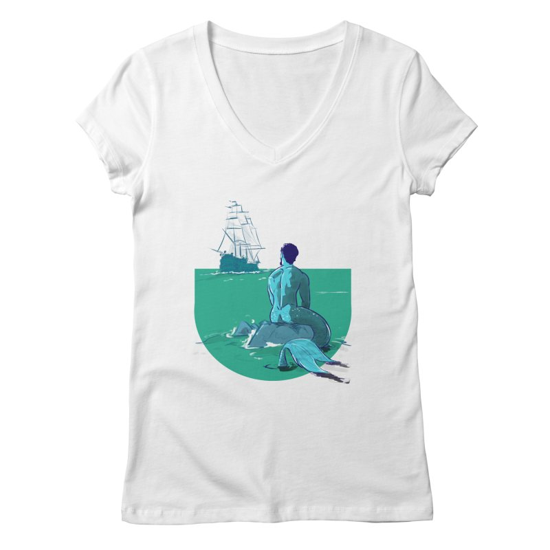 Ocean Women's V-Neck by Ego Rodriguez's Shop