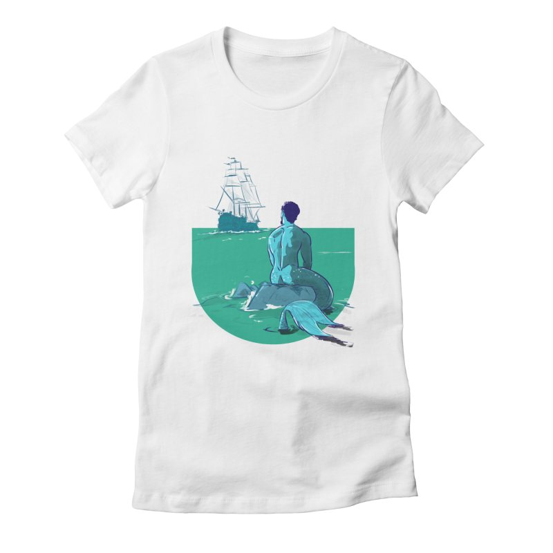 Ocean Women's Fitted T-Shirt by Ego Rodriguez's Shop