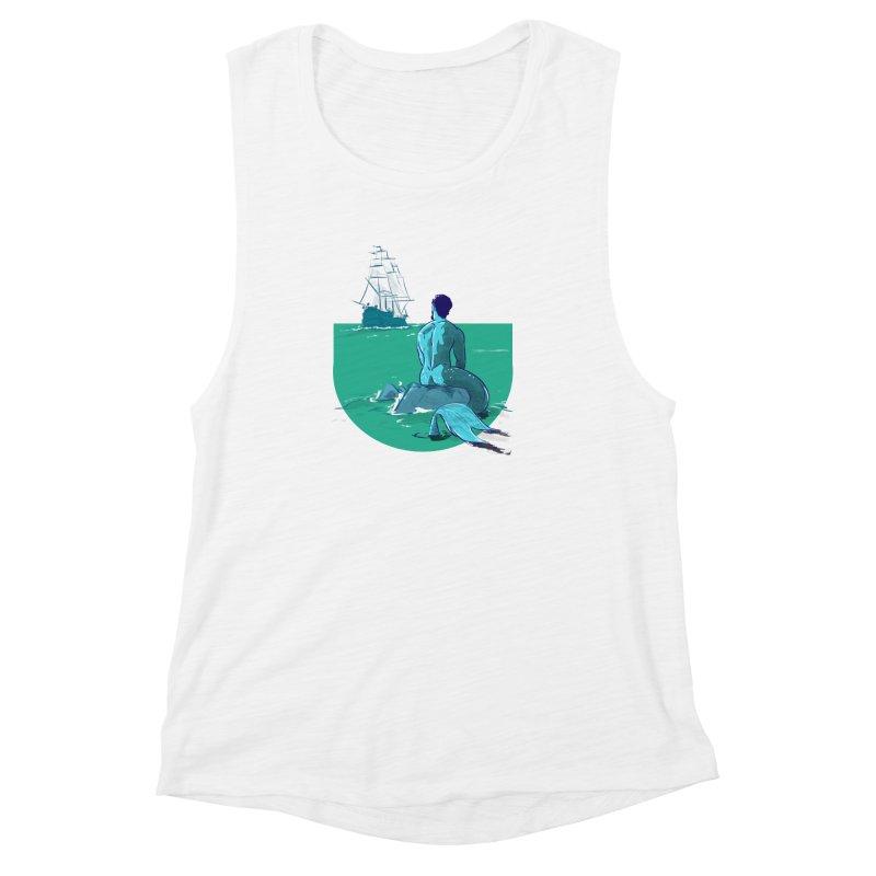 Ocean Women's Muscle Tank by Ego Rodriguez's Shop