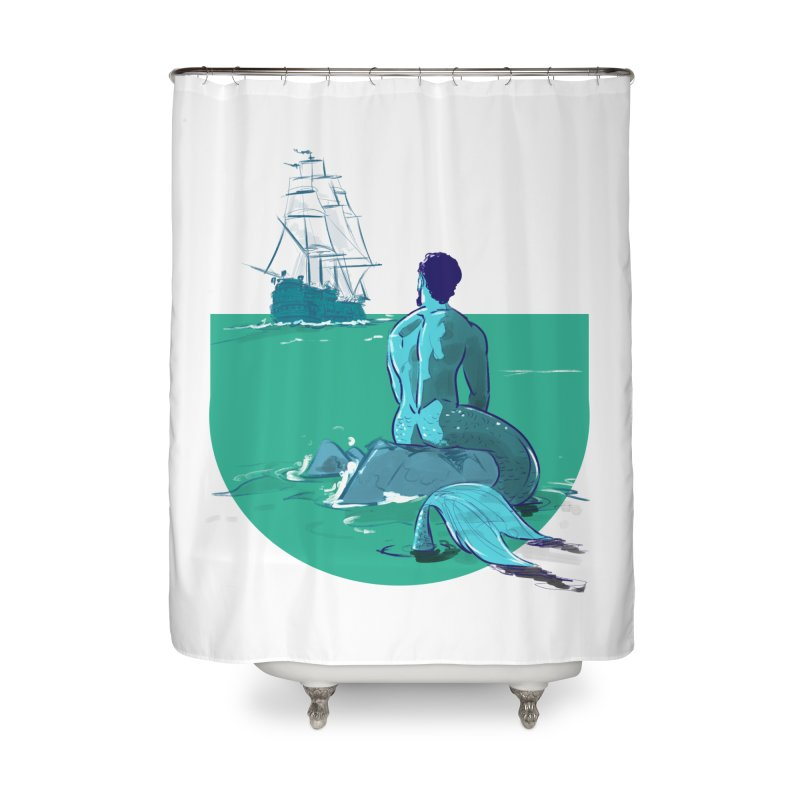Ocean Home Shower Curtain by Ego Rodriguez's Shop