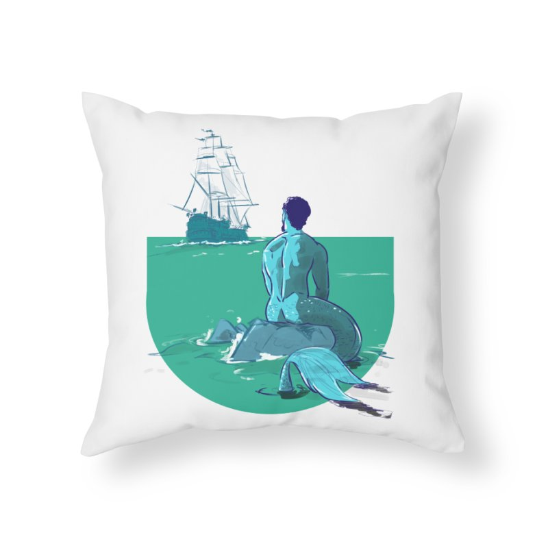 Ocean Home Throw Pillow by Ego Rodriguez