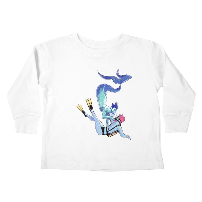 Dive Kids Toddler Longsleeve T-Shirt by Ego Rodriguez