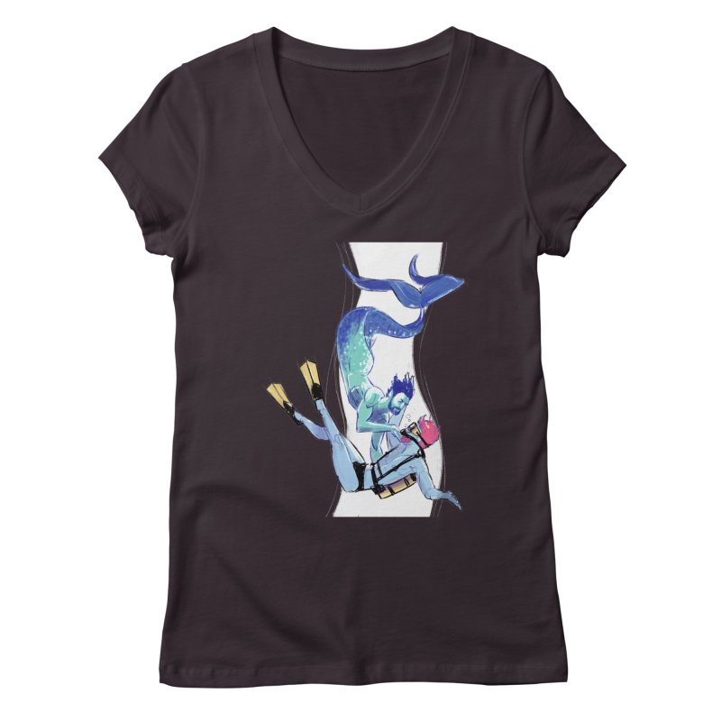 Dive Women's V-Neck by Ego Rodriguez's Shop