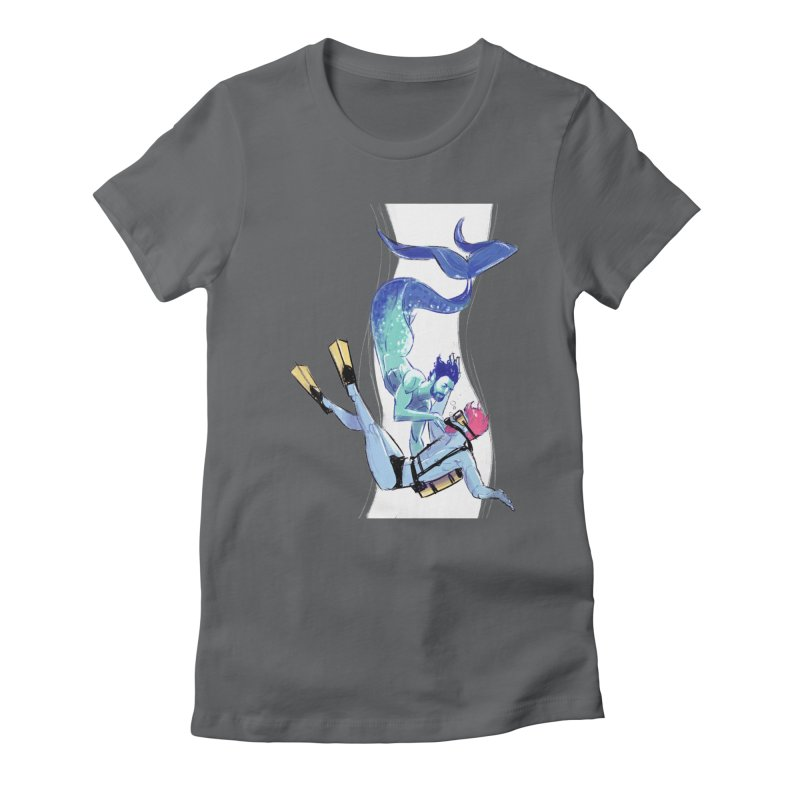 Dive Women's Fitted T-Shirt by Ego Rodriguez's Shop