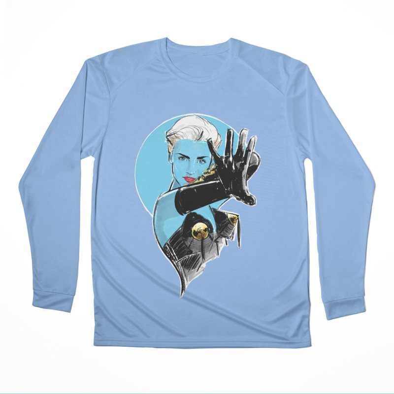 Open Your Heart in Men's Performance Longsleeve T-Shirt Bimini Blue by Ego Rodriguez