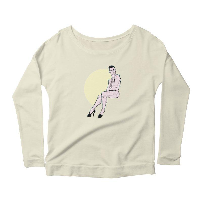 Heels Women's Scoop Neck Longsleeve T-Shirt by Ego Rodriguez