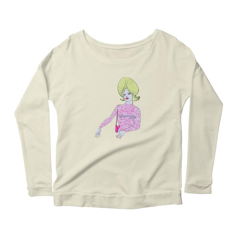 Martian Girl Women's Scoop Neck Longsleeve T-Shirt by Ego Rodriguez