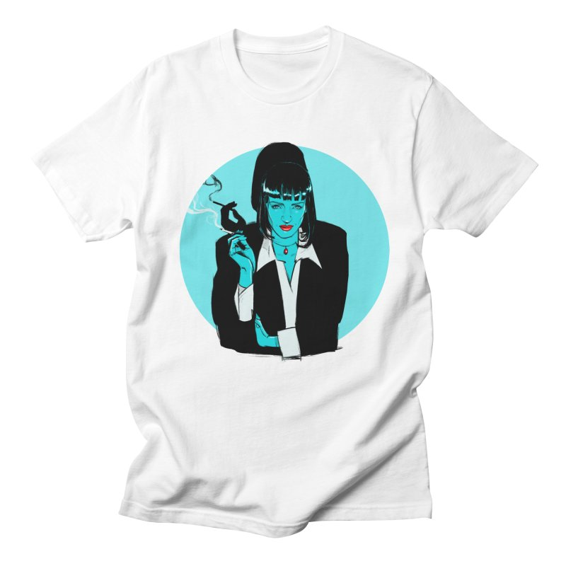 Mia Wallace in Men's Regular T-Shirt White by Ego Rodriguez