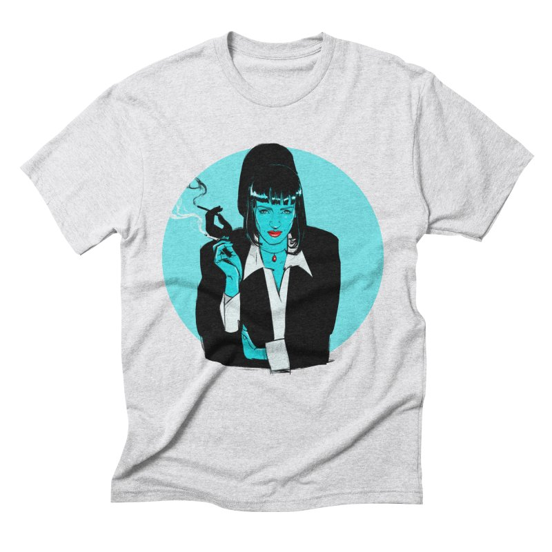 Mia Wallace in Men's Triblend T-Shirt Heather White by Ego Rodriguez's Shop