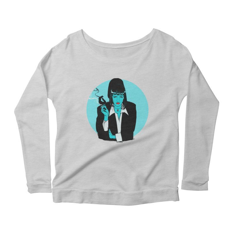 Mia Wallace Women's Scoop Neck Longsleeve T-Shirt by Ego Rodriguez
