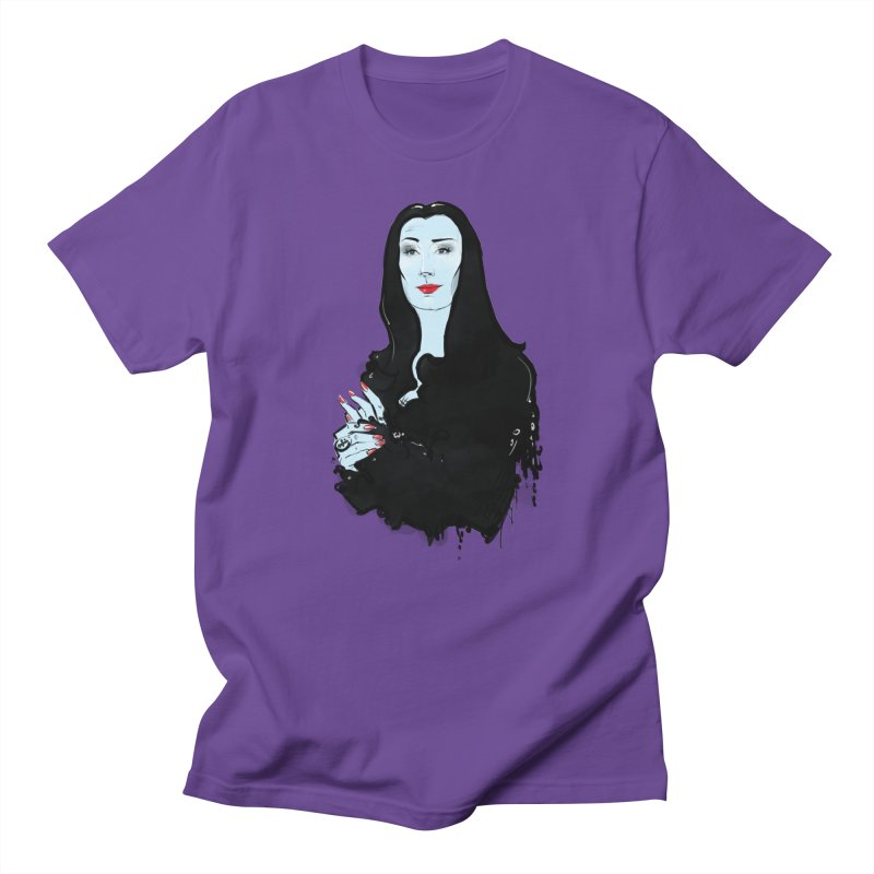 Morticia in Men's Regular T-Shirt Purple by Ego Rodriguez