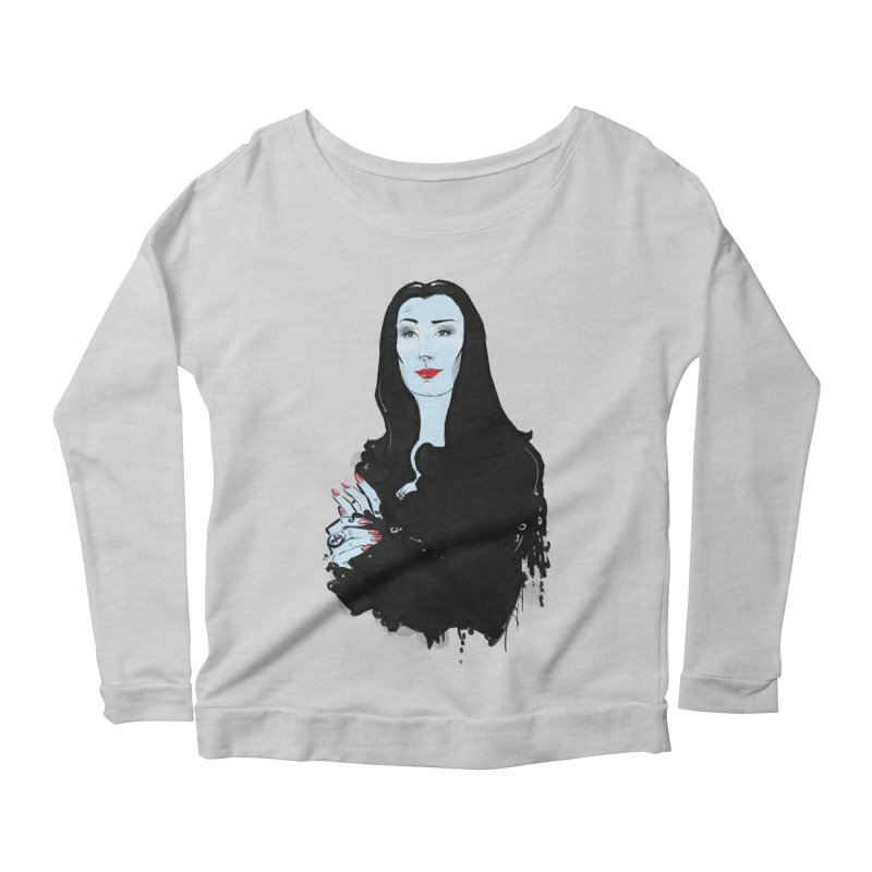 Morticia Women's Scoop Neck Longsleeve T-Shirt by Ego Rodriguez