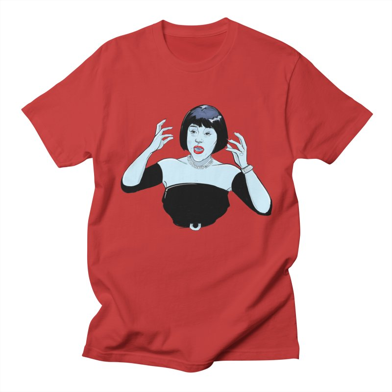 Mrs. White in Men's T-Shirt Red by Ego Rodriguez's Shop