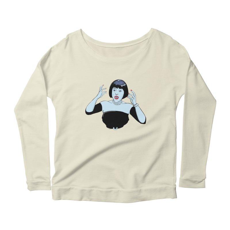 Mrs. White Women's Scoop Neck Longsleeve T-Shirt by Ego Rodriguez