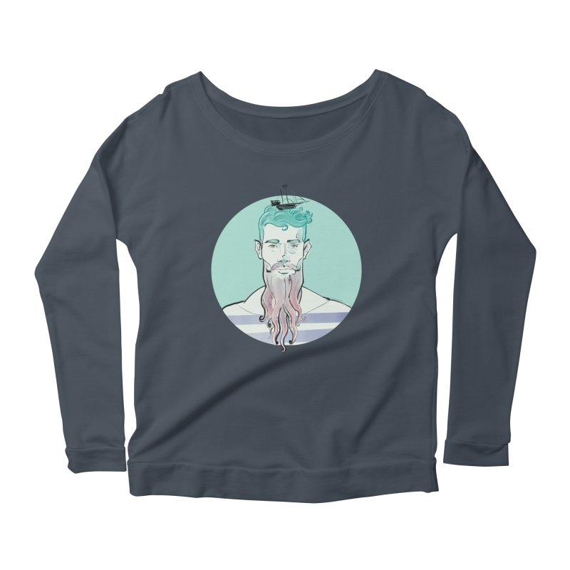 Neptune Women's Scoop Neck Longsleeve T-Shirt by Ego Rodriguez