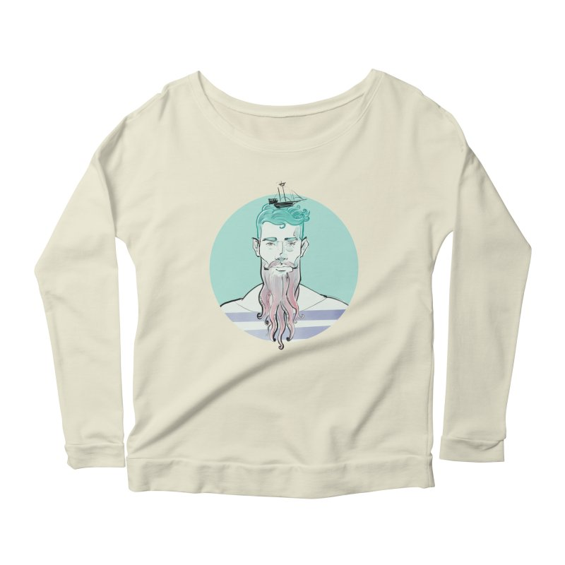 Neptune Women's Scoop Neck Longsleeve T-Shirt by Ego Rodriguez