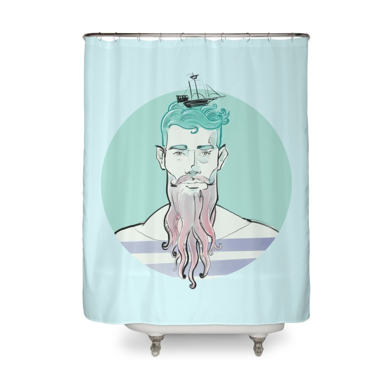 Neptune Home Shower Curtain by Ego Rodriguez