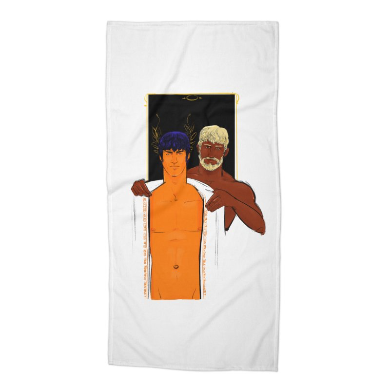 Hadrian & Antinous Accessories Beach Towel by Ego Rodriguez