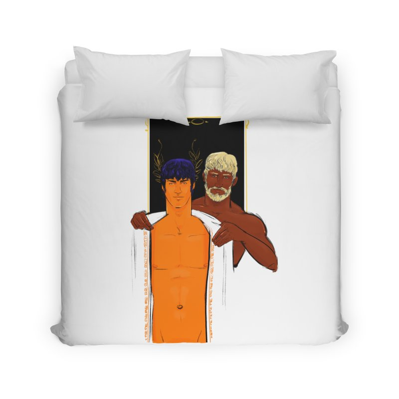Hadrian & Antinous Home Duvet by Ego Rodriguez