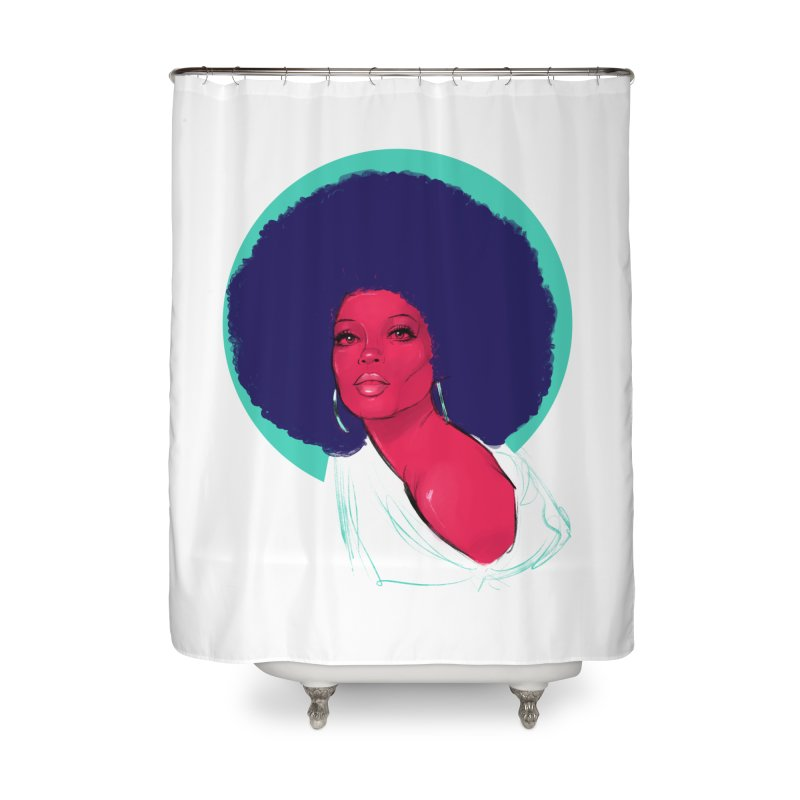 Diana Home Shower Curtain by Ego Rodriguez