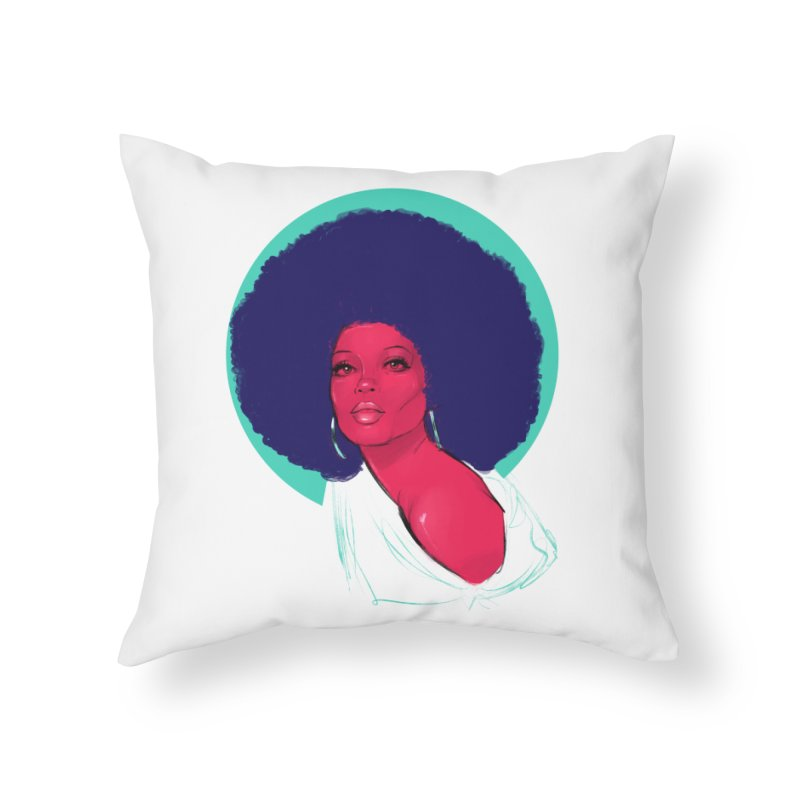 Diana Home Throw Pillow by Ego Rodriguez