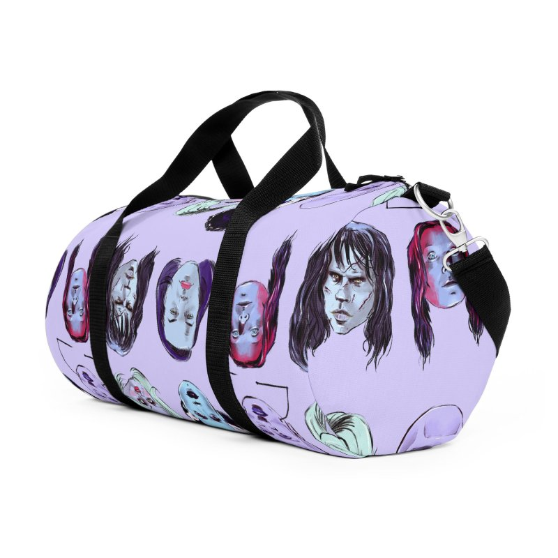 Horror Femmes Accessories Duffel Bag Bag by Ego Rodriguez